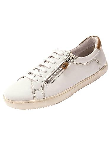 Balsamik - Tennis cuir zippées et à lacet Blanc jwt8cd2a