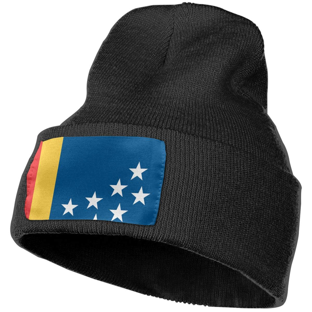 Flag of Durham Hat for Men and Women Winter Warm Hats Knit Slouchy Thick Skull Cap
