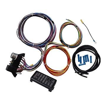 Arnés de cableado universal de 12 circuitos para los cables Muscle Car Hot Rod Street Rod