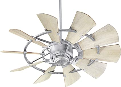 quorum ceiling fans vintage white quorum 944109 windmill 44quot ceiling fan with wall control galvanized 44
