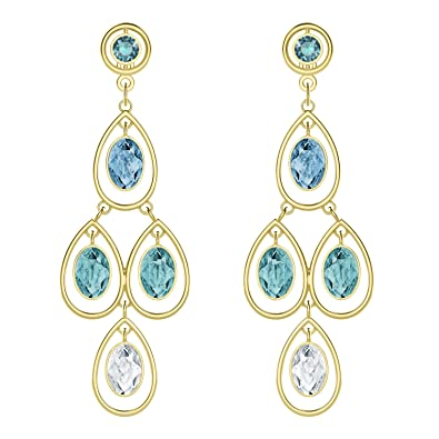 Swarovski Earrings 5390672 Last Summer Chandelier Gold Plated Multi-Coloured Wzap4fC