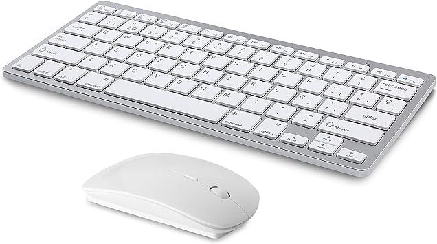 Teclado inalámbrico y ratón Bluetooth Recargable Compatible ...