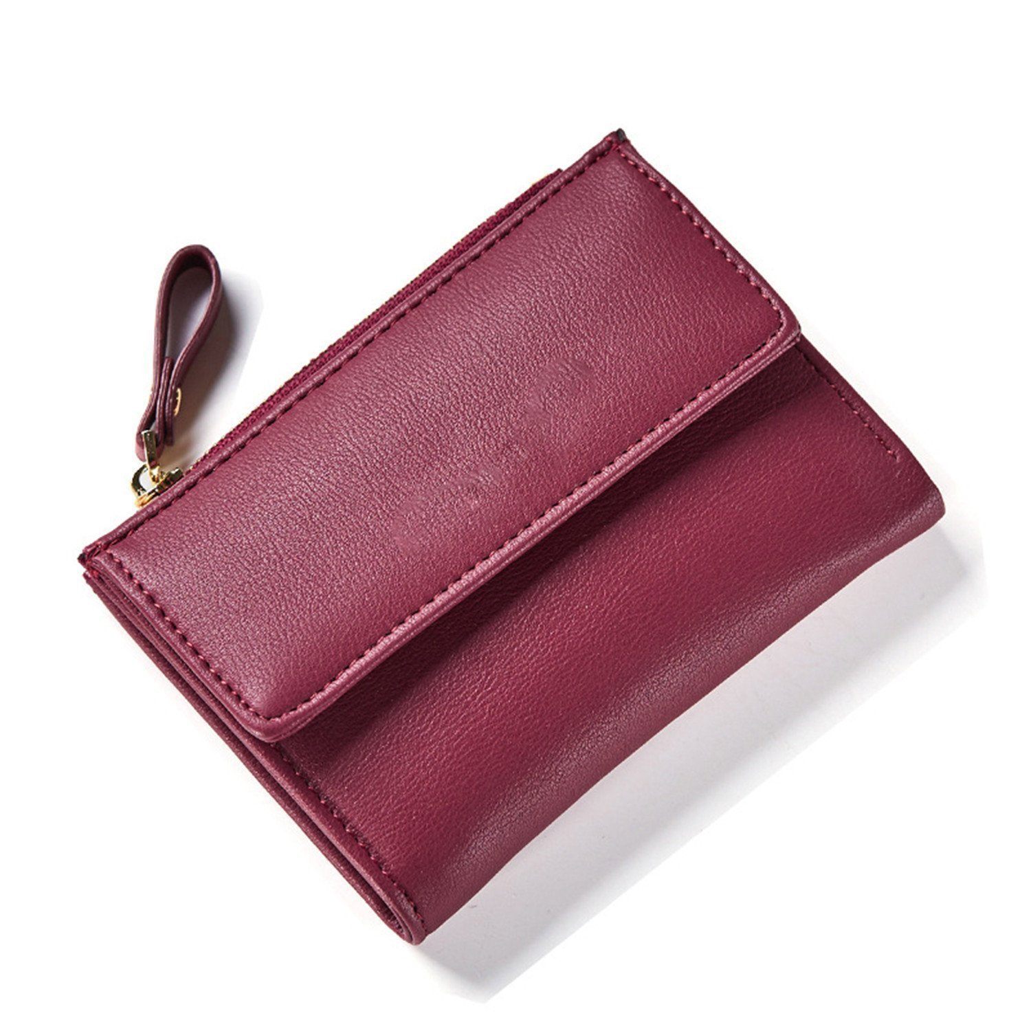 Amazon.com: KEBINAI Women Zipper Wallet Female Fashion Lady Wallet Short Solid Color Change Purse Hot Female Clutch Carteras Female BlackOne Size: Shoes