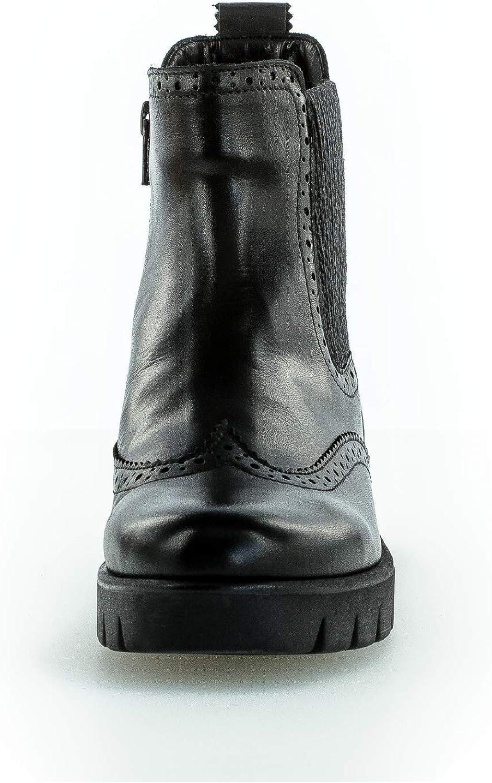 Gabor Femme Bottines, Dame Chelsea Boot Noir Schwarz