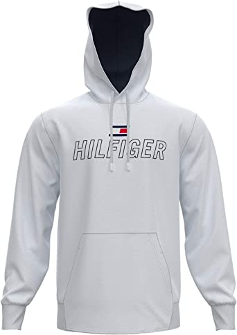 SP Tommy Hilfiger Men/'s Lightweight Lounge Pullover Hoodie In Grey Heather