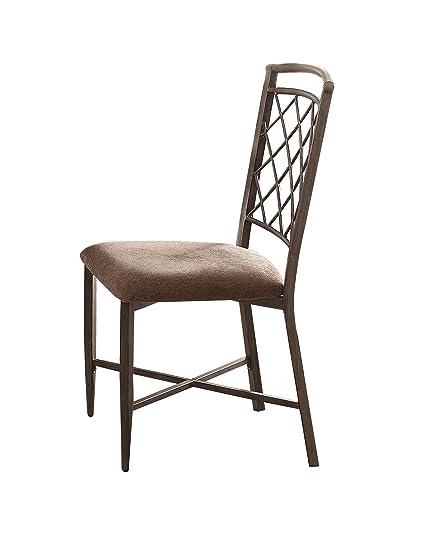 Acme Furniture 73002 Aldric Side Chair (Set Of 2), Fabric U0026 Antique