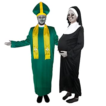 Zombie Paar Irischer Priester Schwangere Nonne Von