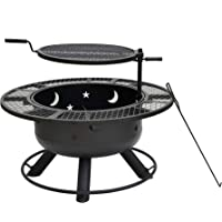 Bond Manufacturing 32.7 Inch Round Wood Burning Steel Fire Pit