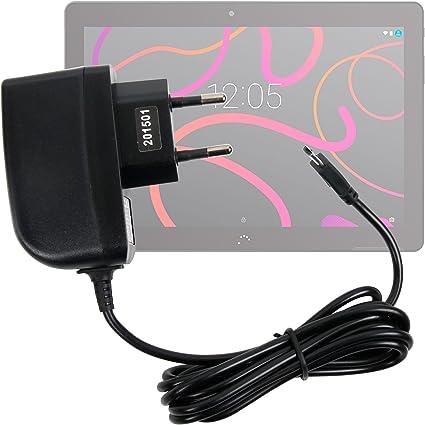 con Conexi/ón Micro USB Y Enchufe Europeo De Pared para BQ Aquaris M10 2 Amperios DURAGADGET Cargador Certificado por La CE