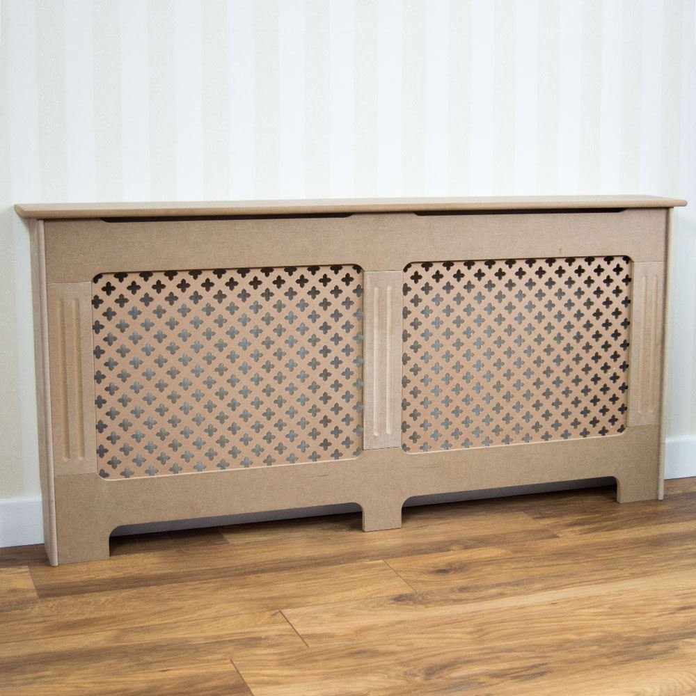 Vida Designs Oxford Radiator Cover Unfinished Traditional Unpainted MDF Cabinet Small