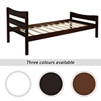 Deals on Bed with Headboard Wooden Slat Support Wood Platform Bed