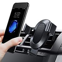 Handyhalterung Auto, TORRAS [Lebenszeit Garantie] Universal Multi-Winkel Schwerkraft KFZ Halterung Auto Anti-Shake lüftung Autohalterung für iPhone 8 / 8 Plus / X / 7 / 7 Plus / 6S, Galaxy S9 S8 Plus und Andere Smartphones - Schwarz