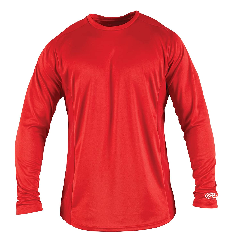 Rawlings Boy 's長袖ベースレイヤーシャツ B00D9PWZ74 L|スカーレット スカーレット L