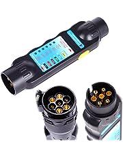 12 V anhaenger iluminación de enchufes Trailer Tester anhaenger pruef Tensiómetro 7 pines conector lata