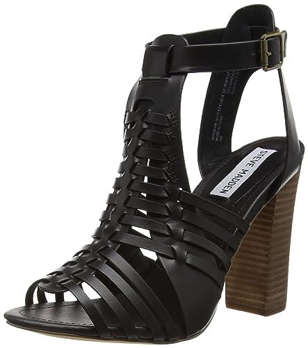 a3a24370a0 Steve Madden Sandrina SM, Women Heels Sandals, Black, 4 UK (37 EU ...