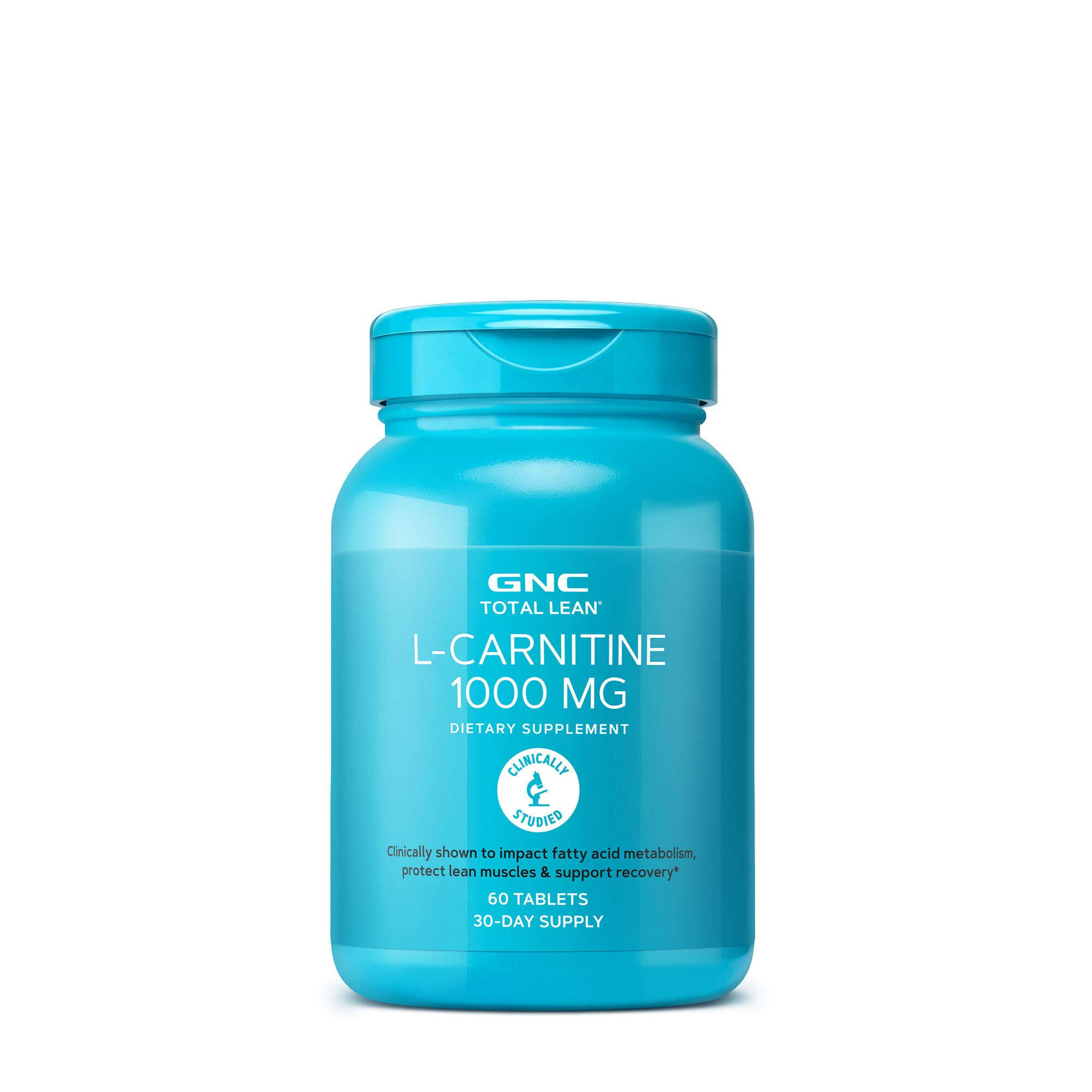 GNC Total Lean L-Carnitine 1000mg, 60 Tablets, Supports Recovery and Lean Muscle Growth