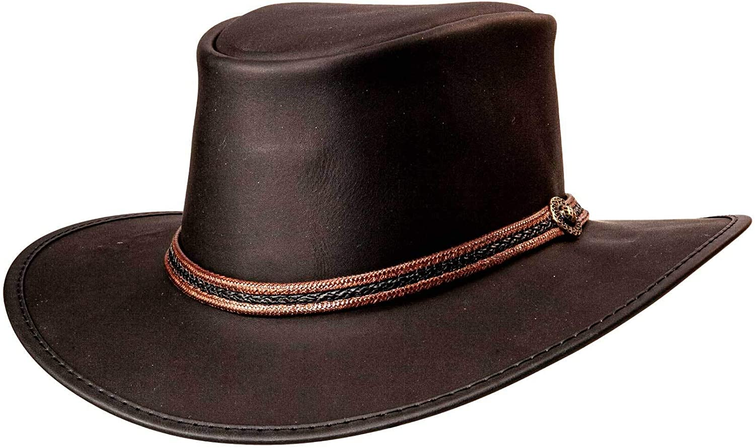 Detroit Mall American 5 popular Hat Makers Midnight Rider Outback Bravo for Leather
