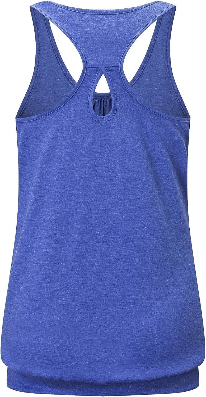 Felisou Workout Tank Tops for Women Athletic Yoga Tops Gym Racerback Sport Shirts