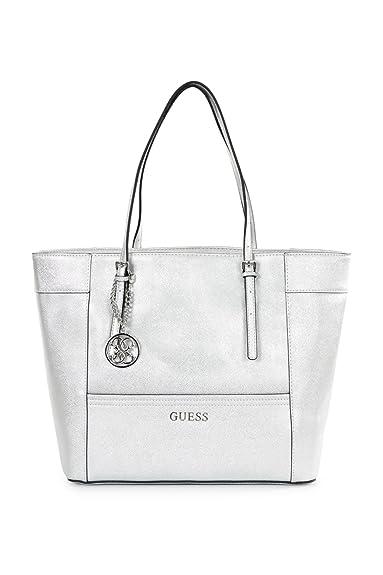 1f7e01419b9c Guess Sac Delaney Medium Classic Silver  Amazon.co.uk  Shoes   Bags