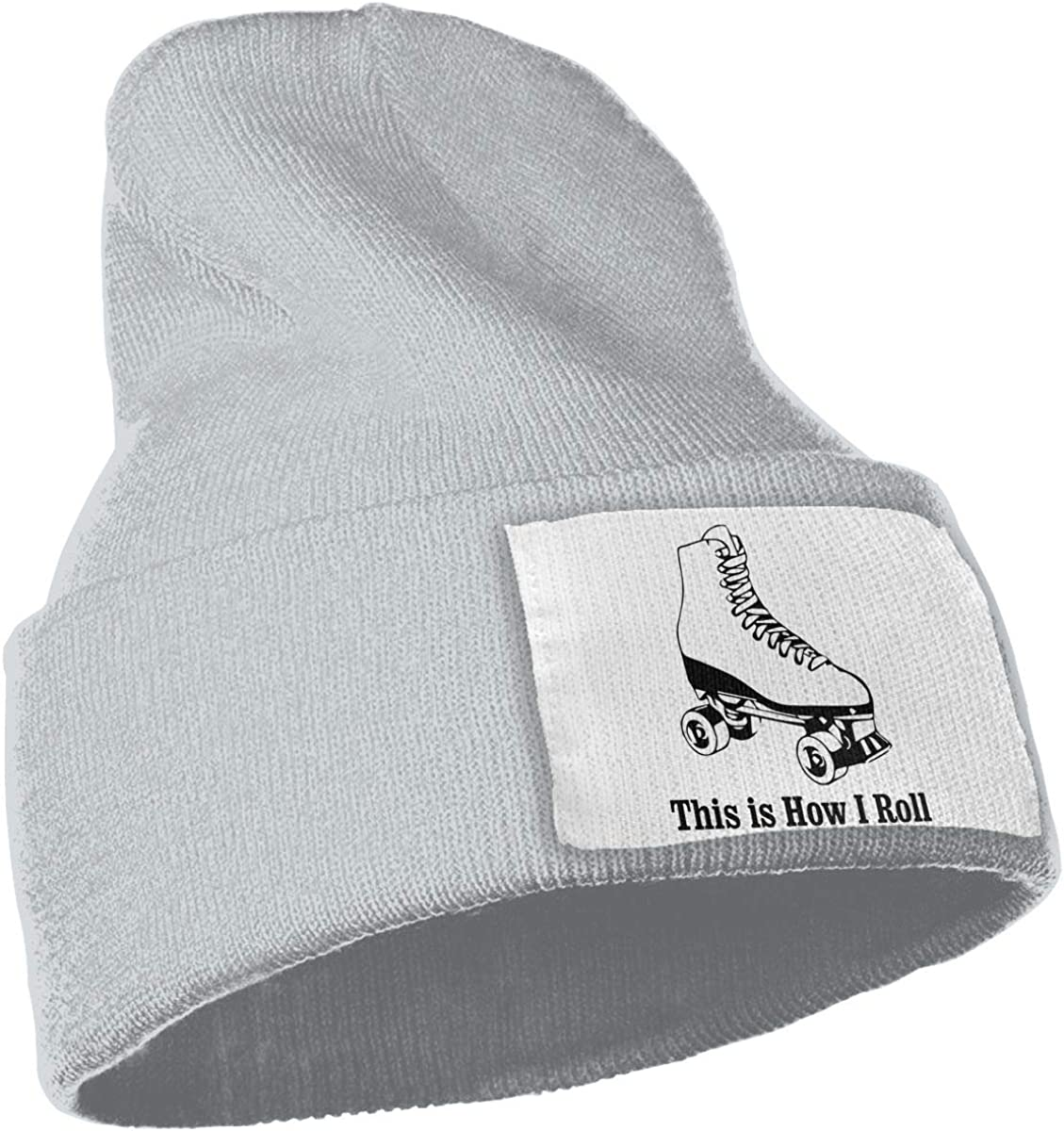 TAOMAP89 This is How I Roll Roller Skates Women and Men Skull Caps Winter Warm Stretchy Knit Beanie Hats