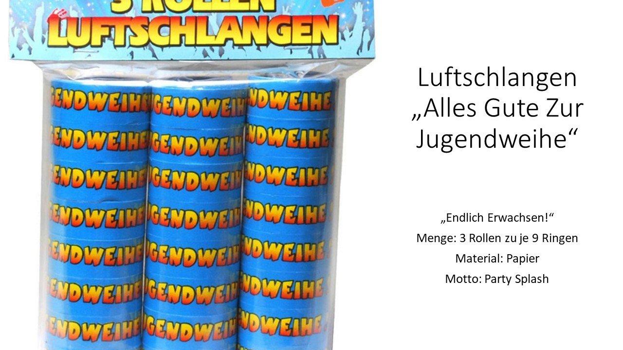 Udo Schmidt Luftschlangen Jugendweihe 3 Rollen