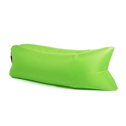 Panda Puff Hinchable Sofa Tumbona de Aire Color Verde