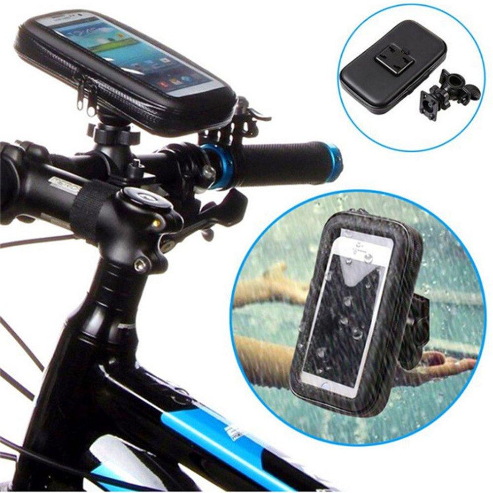 Smartphone Cyclisme avec /Étui Imperm/éable pour GPS Apple Bicyclette iPhone ICOOM Support Pour SmartPhone Waterproof Universel Fixation Guidon Moto M1-V1, NOIR V/élo Android