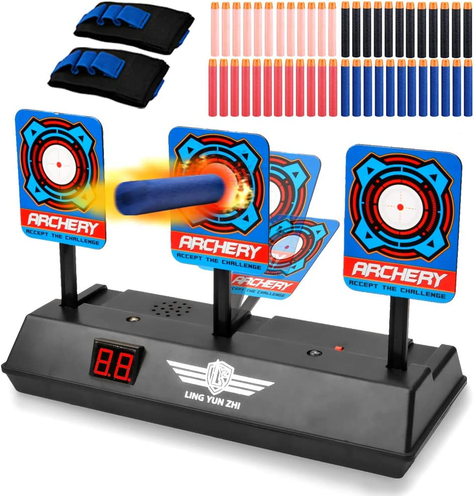 Boys /& Girls Target Shooting Game Idea Toy for Kids with Wonderful Light Sound Effect Jionchery Upgrade Electronic Shooting Target Scoring Auto Reset 3 Digital Targets for Nerf Guns Blaster Toys