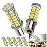 5 x 1141 Interior Light Bulbs Replacement BA15S 1156 80 SMD LED 1003 900 Lumens RV Turn Signal Backup Reverse,Xenon White