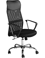 FurnitureR Ergonomic Mesh Adjustable Conference Office Executive Chair Black