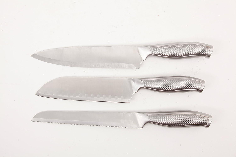 Oster Cuisine 109425.14 Evertsberg 14 Piece Cutlery Block Set, Stainless Steel 71oszMP3R6LSL1401_