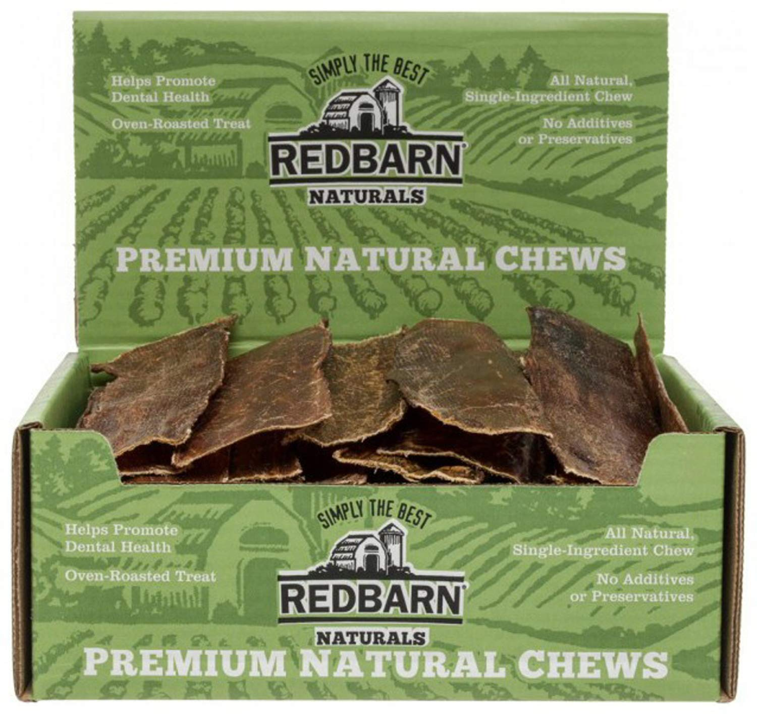 Redbarn Naturals Barky Bark Beef Dog Treats 50 Bones