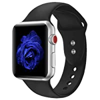 Straper For Apple Watch Strap 38 42 mm, Premium Soft Silicone Watch Band Breathable Holes Replacement Wristbands for iWatch Apple Watch Strap Series 3, Series 2 1 NIKE+ Sports and Edition