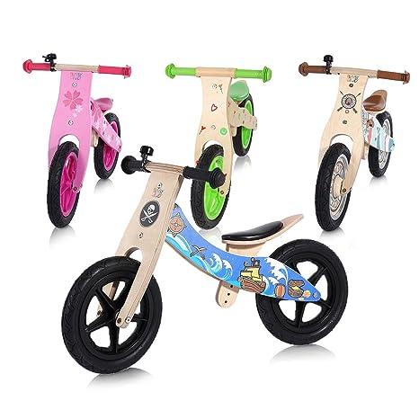 2b1fb0fa74122c Baby Vivo Bicicletta Bici Triciclo Spinta Bambini Guidare Corsa Equilibrio  Legno Colori Campanello Pneumatici 12 Pollici