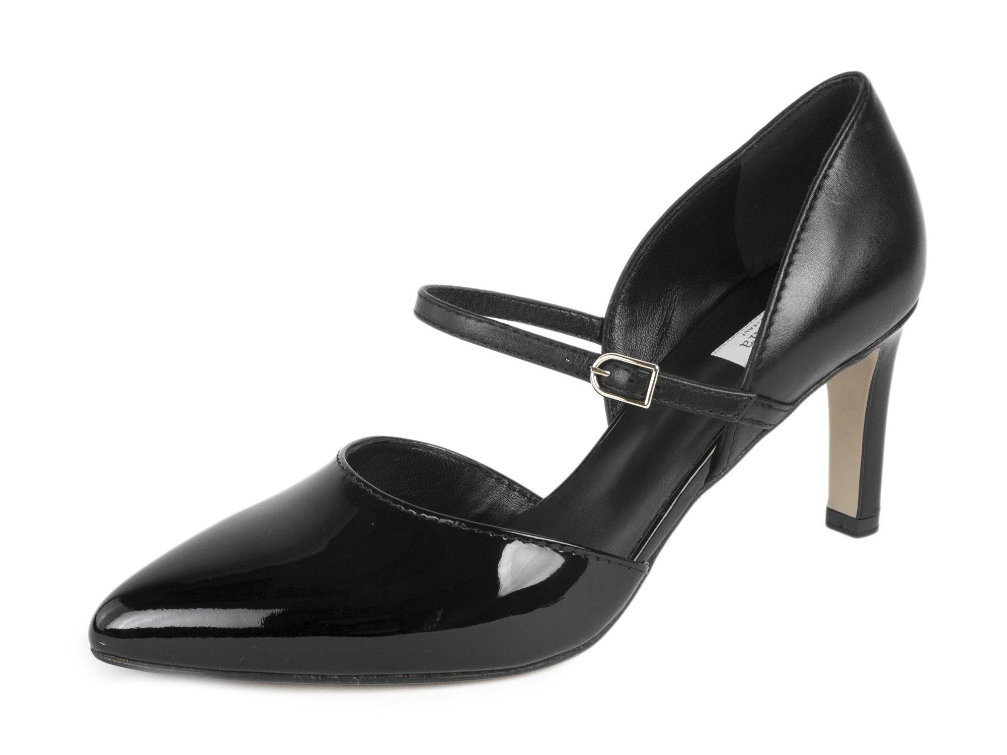 MaxMara Women's Lepant Mary Jane High Heels US 9/IT 39 Black