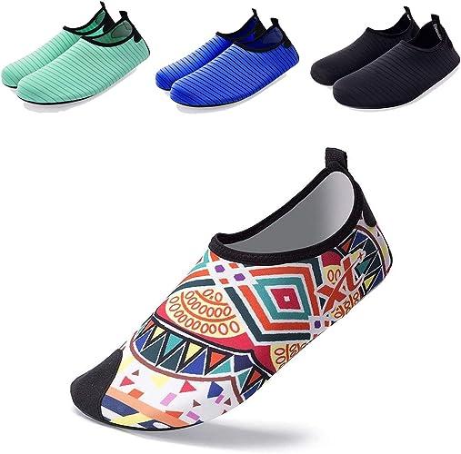 Men Quick-Dry Water Shoes Barefoot Aqua Skin Socks Slip-on for Beach Swim Yoga