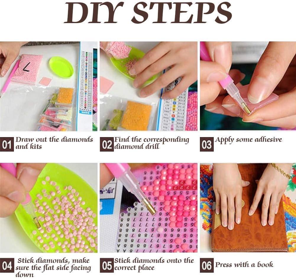Encoco Kit de peinture diamant pour adultes perroquet blanc 5D /à r/éaliser soi-m/ême avec strass pour la maison d/écoration murale 20 x 20 cm le bureau