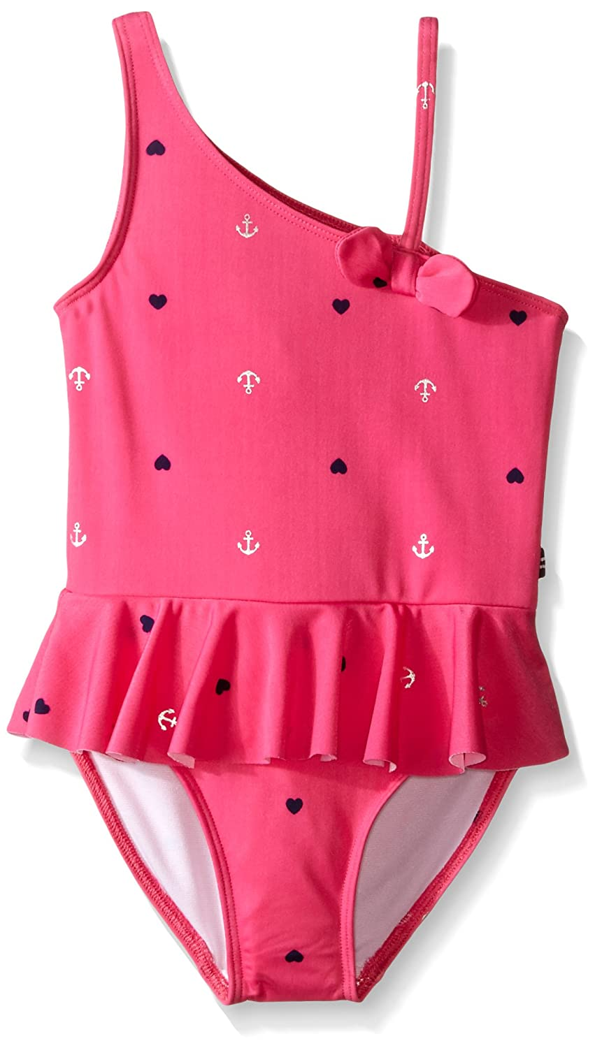 Nautica Little Girls' Anchor Foil Print One-piece Fuchsia 2T 36NCO0081Q