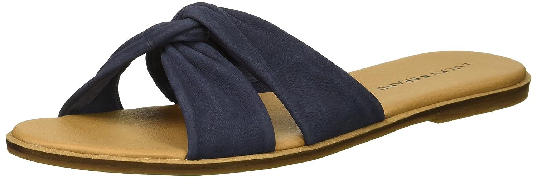 Lucky Brand Women's Dezzee Slide Sandal B077JHT744 12 B(M) US|Indigo