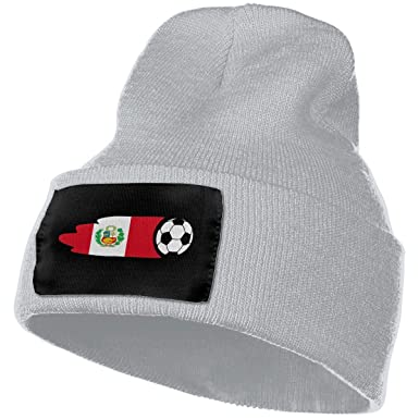 Gorros de Punto Men/Women Peru Flag Soccer Ball Outdoor Fashion ...