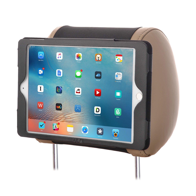 Soporte de piel para reposacabezas de coche para iPad Air color negro TFY