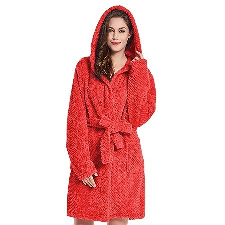 Bathrobe M Short Women Men Unisex Hooded Dressing Gown Microfibre Soft Snug  Cosy Fleece Red Sleepyhead  Amazon.co.uk  Kitchen   Home baf62ca2f