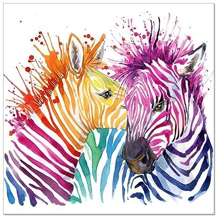 Amazon.com: Animal Canvas Wall Art, Modern Living Room Wall Decals ...