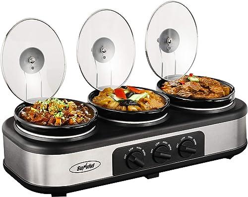Sunvivi Outdoor Triple Slow Cooker