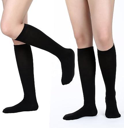 Women/'s Casual Halloween Knee-High Stockings Ladies Fancy Dress Fever Print Sock