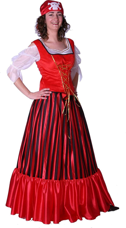 Disfraz de pirata con falda larga - M: Amazon.es: Juguetes y juegos