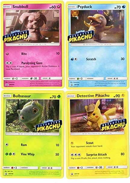 SM DETECTIVE PIKACHU MEWTWO 12//18 RARE HOLO Pokemon