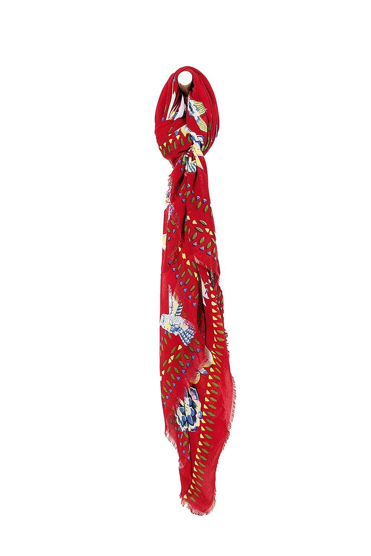 DESIGUAL Schal Rectangle White Bird 71W9WG0 3030 ROT