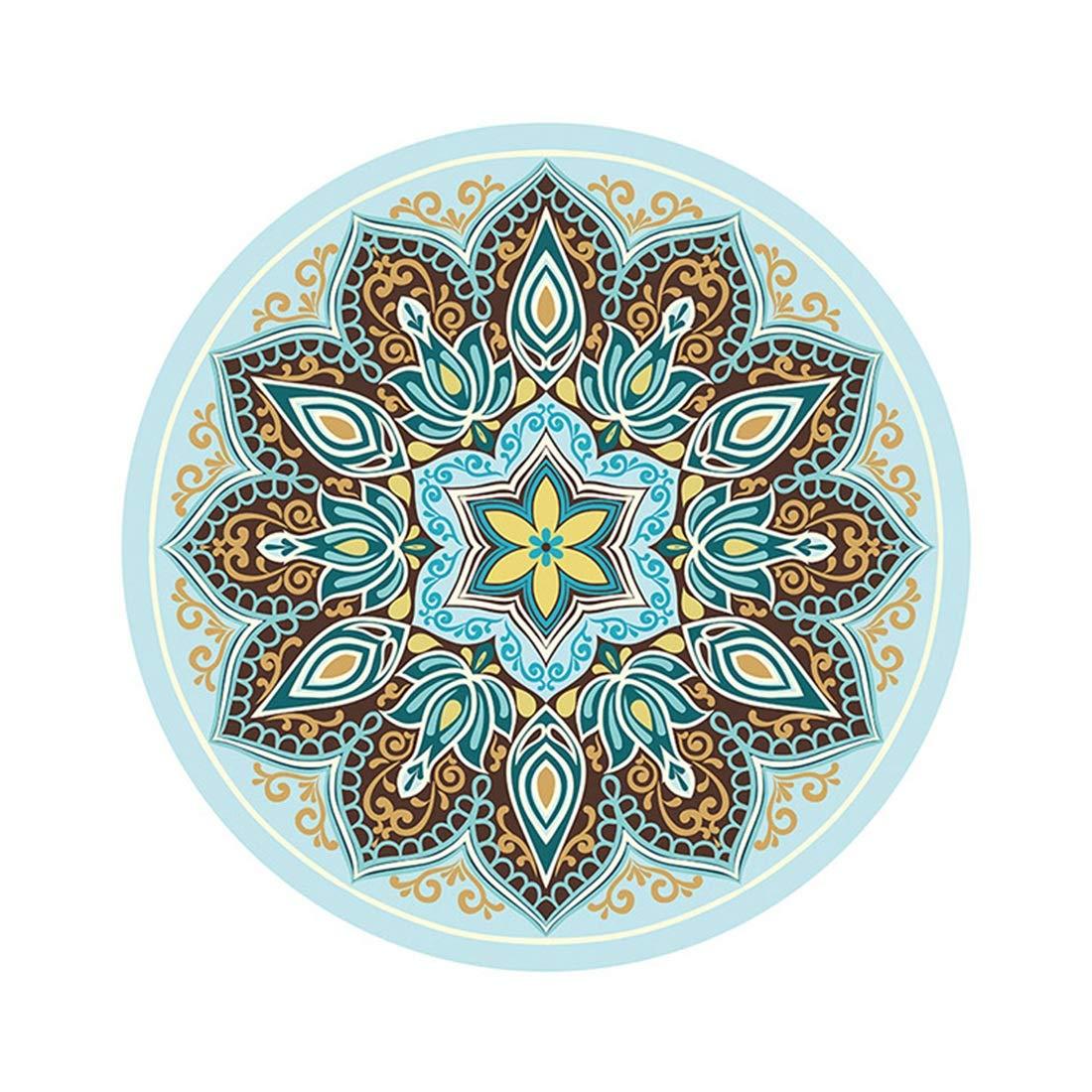 JOYS CLOTHING インドの曼荼羅ラウンドプリントヨガマット、天然ゴムの丸いタペストリーヒッピーボホジプシーラウンド瞑想マット (Color : D)  D B07MR14T1J