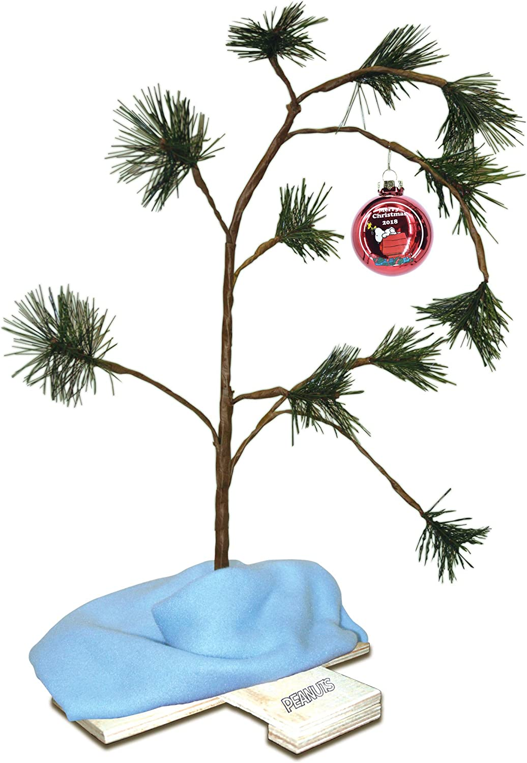Peanuts 18 inch Charlie Brown Christmas Lonely Tree With Linus Blanket And Clas